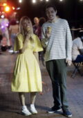 Kaley Cuoco and Pete Davidson spotted filming which appears to be a date night scene for 'Meet Cute' in New York City