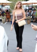 Kara Del Toro is all smiles after lunch with friends at Fred Segal's in West Hollywood, California