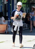 Kate Mara picks up balloons at her local Party City to celebrate her stepson's 8th Birthday, Los Feliz, California