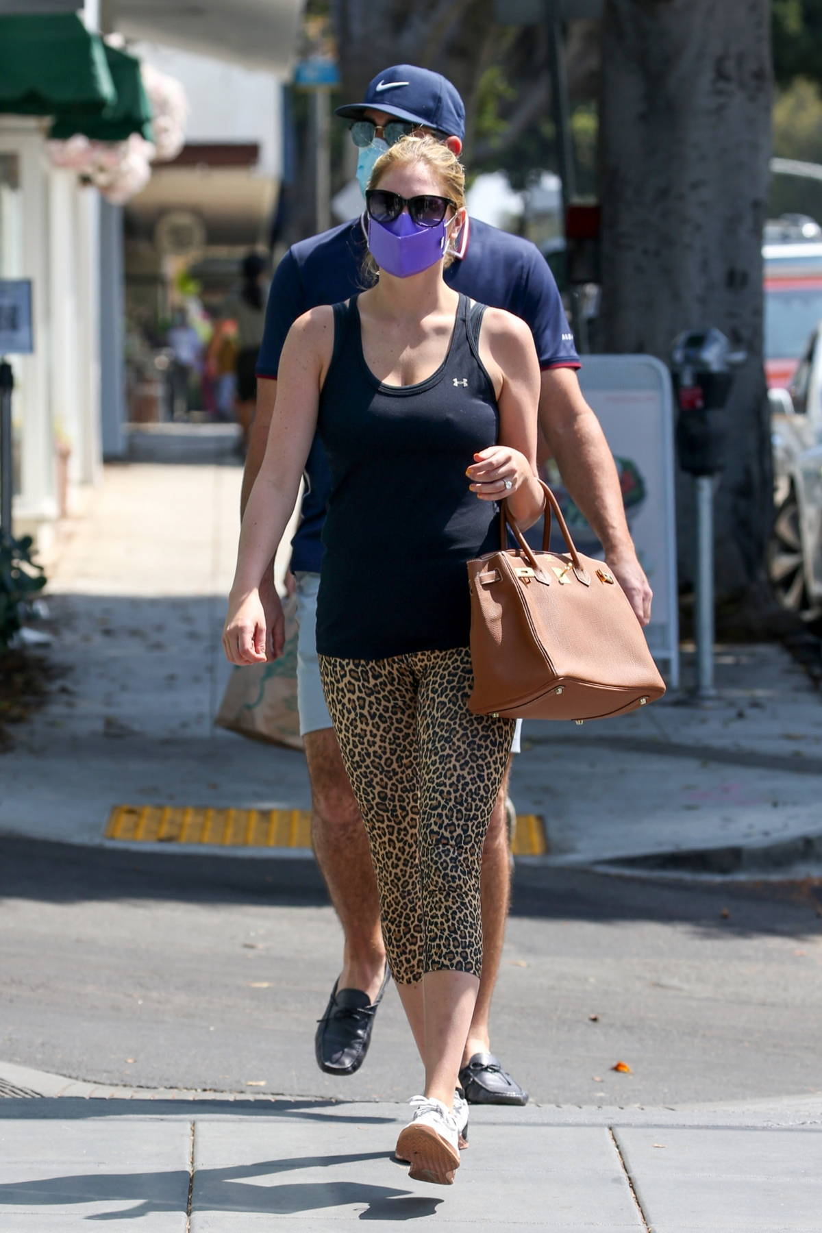 Kate Upton sports tank top and leggings while heading for a spa day with Justin Verlander in Santa Monica, California