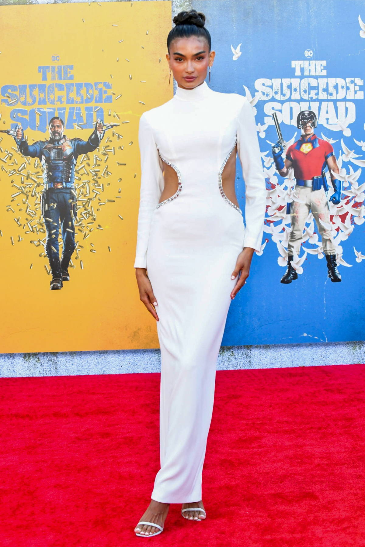 Kelly Gale attends the Premiere of 'The Suicide Squad' at Regency Village Theatre in Los Angeles