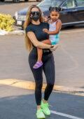 Khloe Kardashian and Tristan Thompson take their daughter to her dance class in Calabasas, California