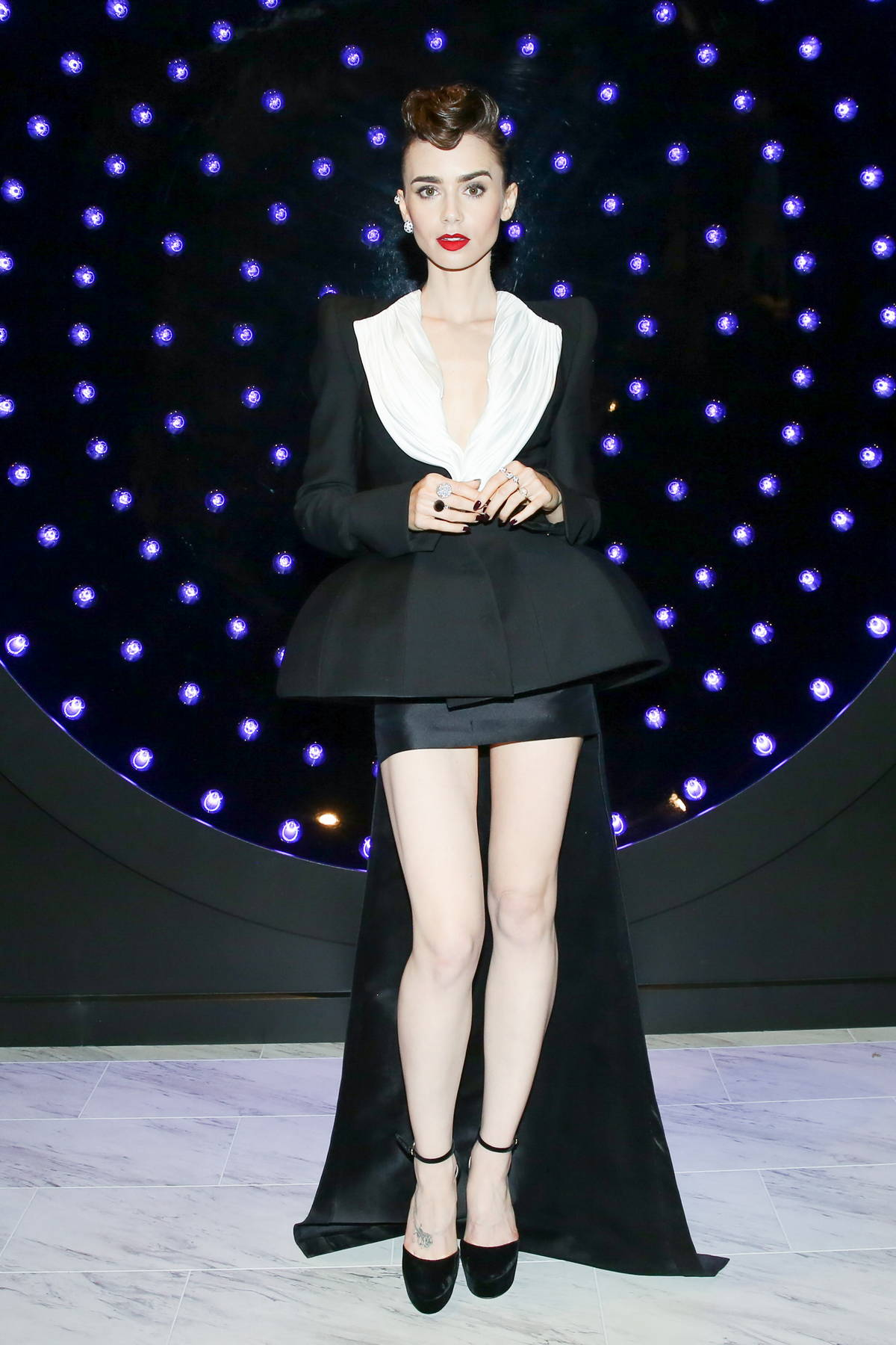 Lily Collins attends the Clash de Cartier event in West Hollywood, California