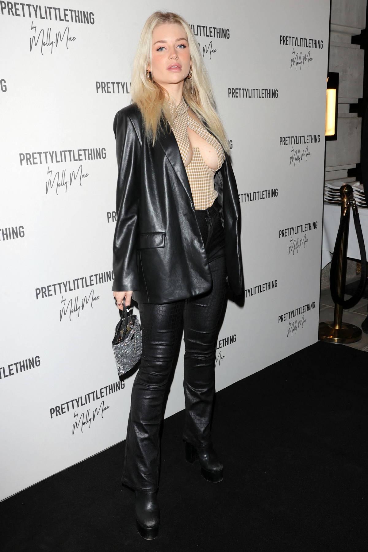 Lottie Moss attends Molly Mae launch party in London, UK