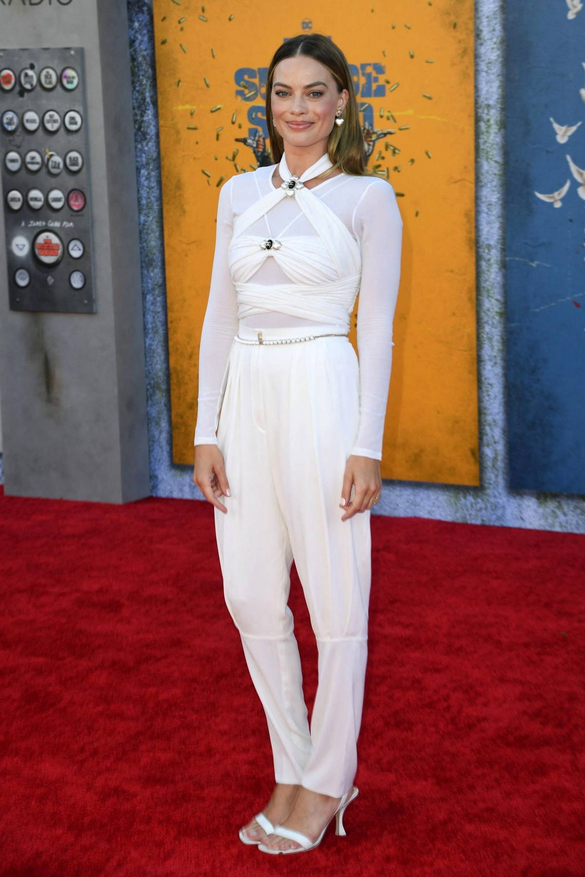 Margot Robbie attends the Premiere of 'The Suicide Squad' at Regency Village Theatre in Los Angeles