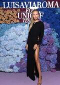 Natasha Poly attends the 2021 LuisaViaRoma for UNICEF Italia event in Capri, Italy