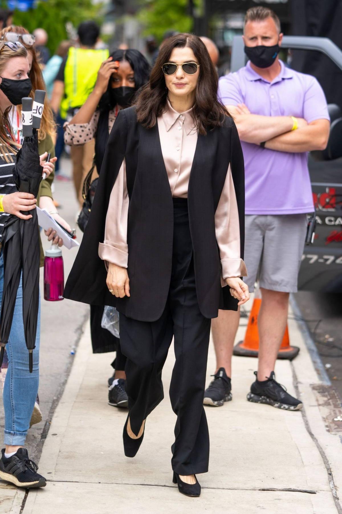 Rachel Weisz seen filming 'Dead Ringers' in Chelsea, New York City