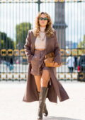 Rita Ora looks super chic in a Fendi outfit while visiting Le Jardin des Tuileries in Paris, France