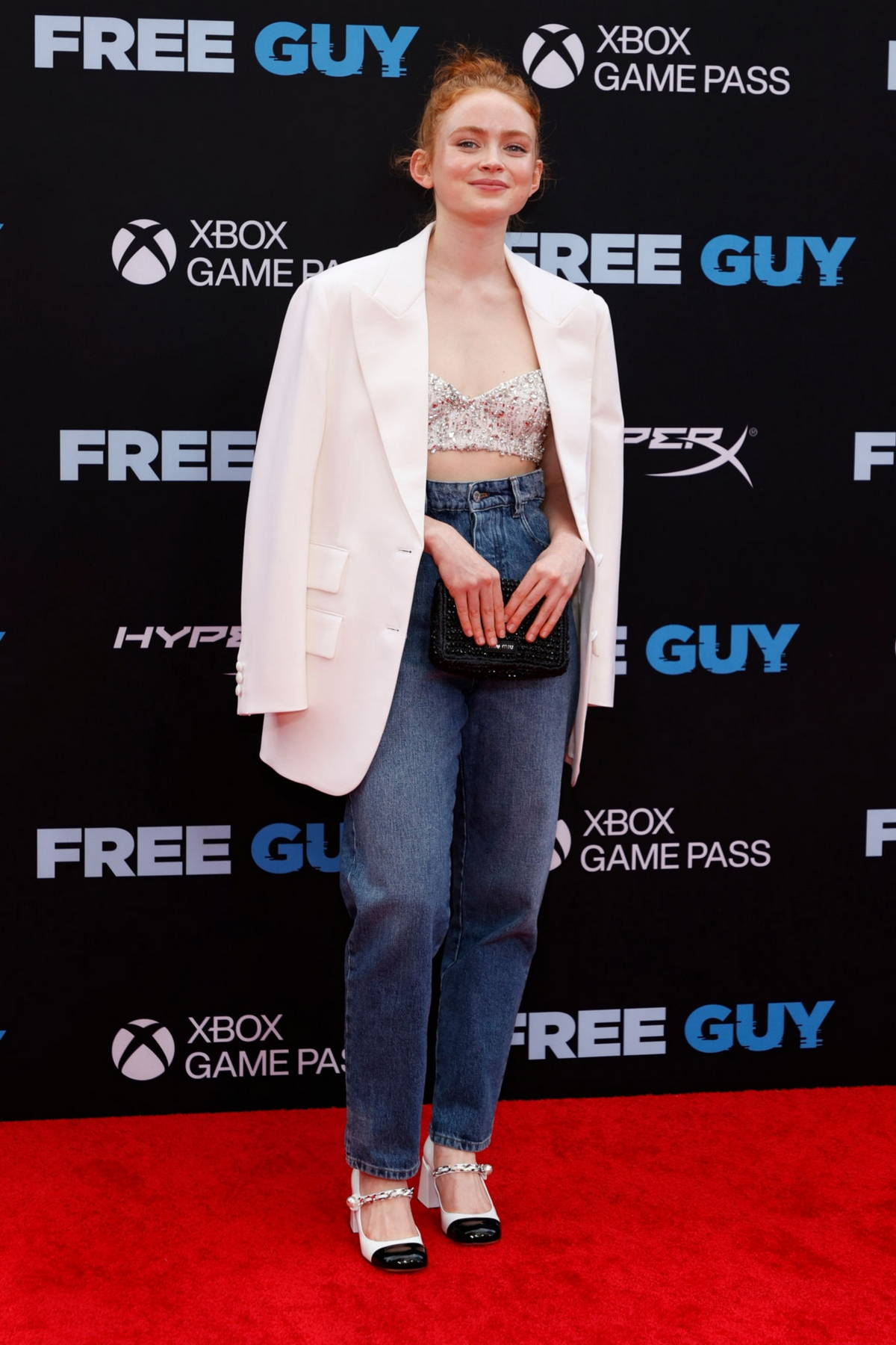 Sadie Sink attends the Premiere of 'Free Guy' at AMC Lincoln Square Theater in New York City