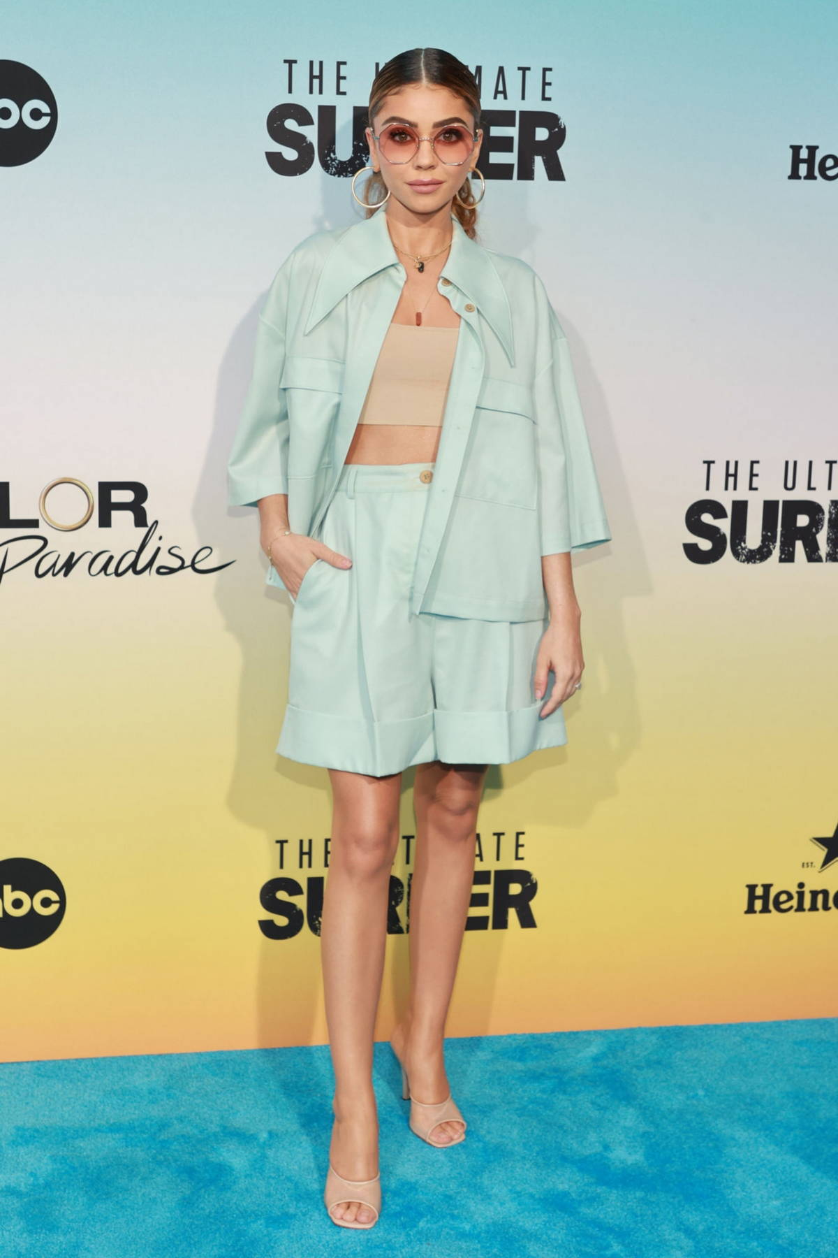 """Sarah Hyland attends ABC's """"Bachelor In Paradise"""" And """"The Ultimate Surfer"""" Premiere in Santa Monica, California"""