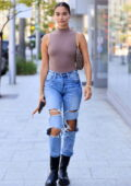 Shanina Shaik looks fab in a skintight top and ripped jeans while out shopping at Crate & Barrel in Beverly Hills, California