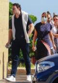 Sofia Richie seen leaving Nobu with her boyfriend Elliot Grainge after a late Sunday lunch in Malibu, California