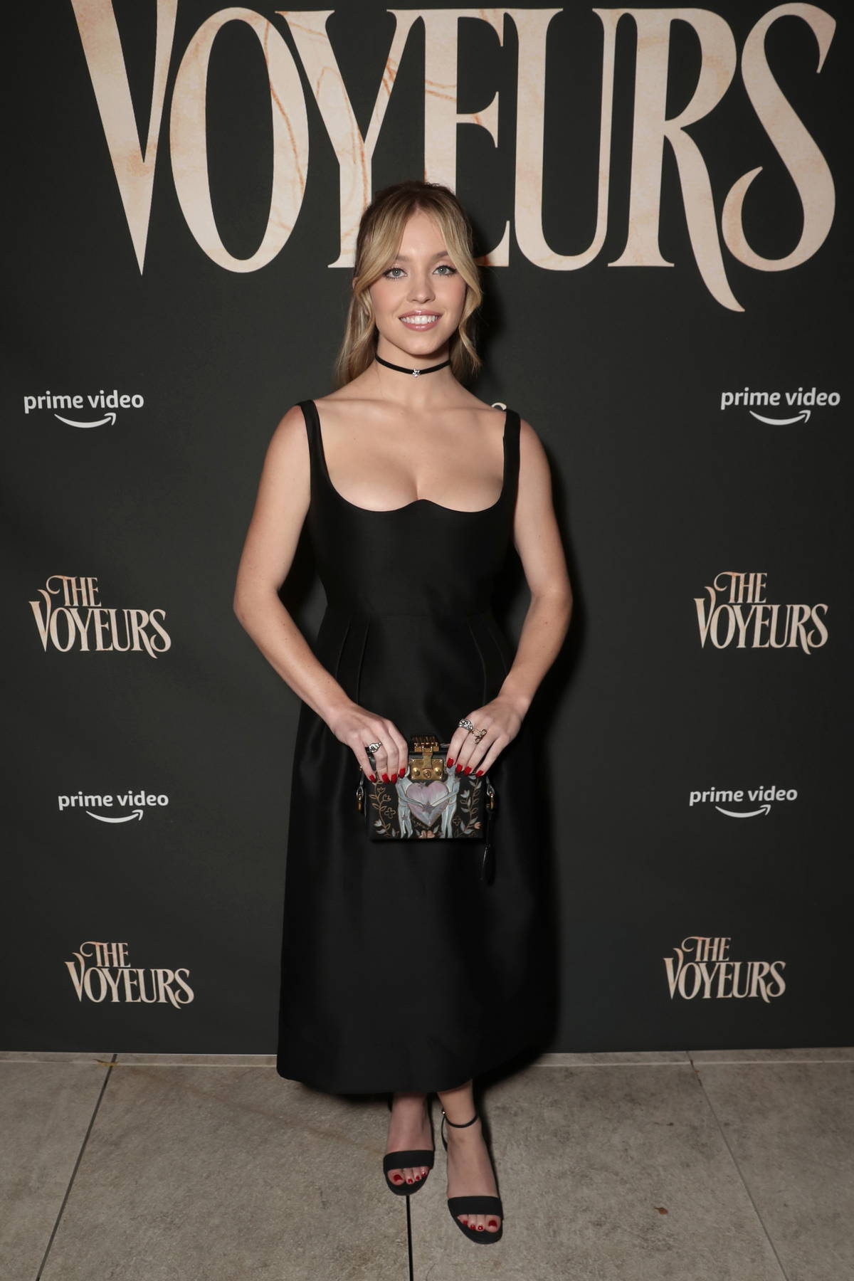 Sydney Sweeney attends the premiere of 'The Voyeurs' in Los Angeles