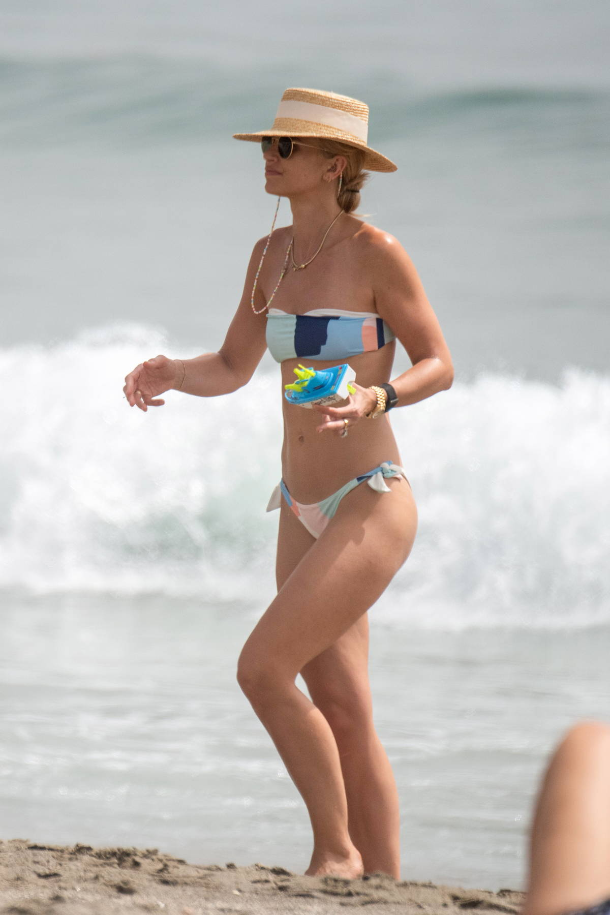 Vogue Williams spotted in a bikini while on holiday with her family in Costa del Sol, Spain