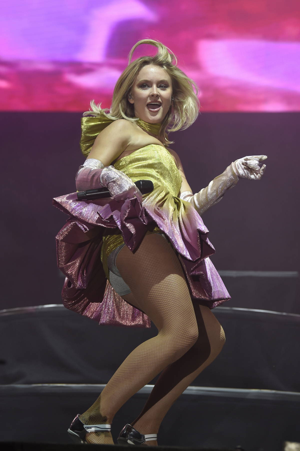 Zara Larsson performs live onstage at Manchester Pride in Manchester, UK