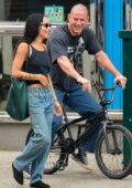 Zoe Kravitz and Channing Tatum share some laughs while out on a walk in the East Village, New York