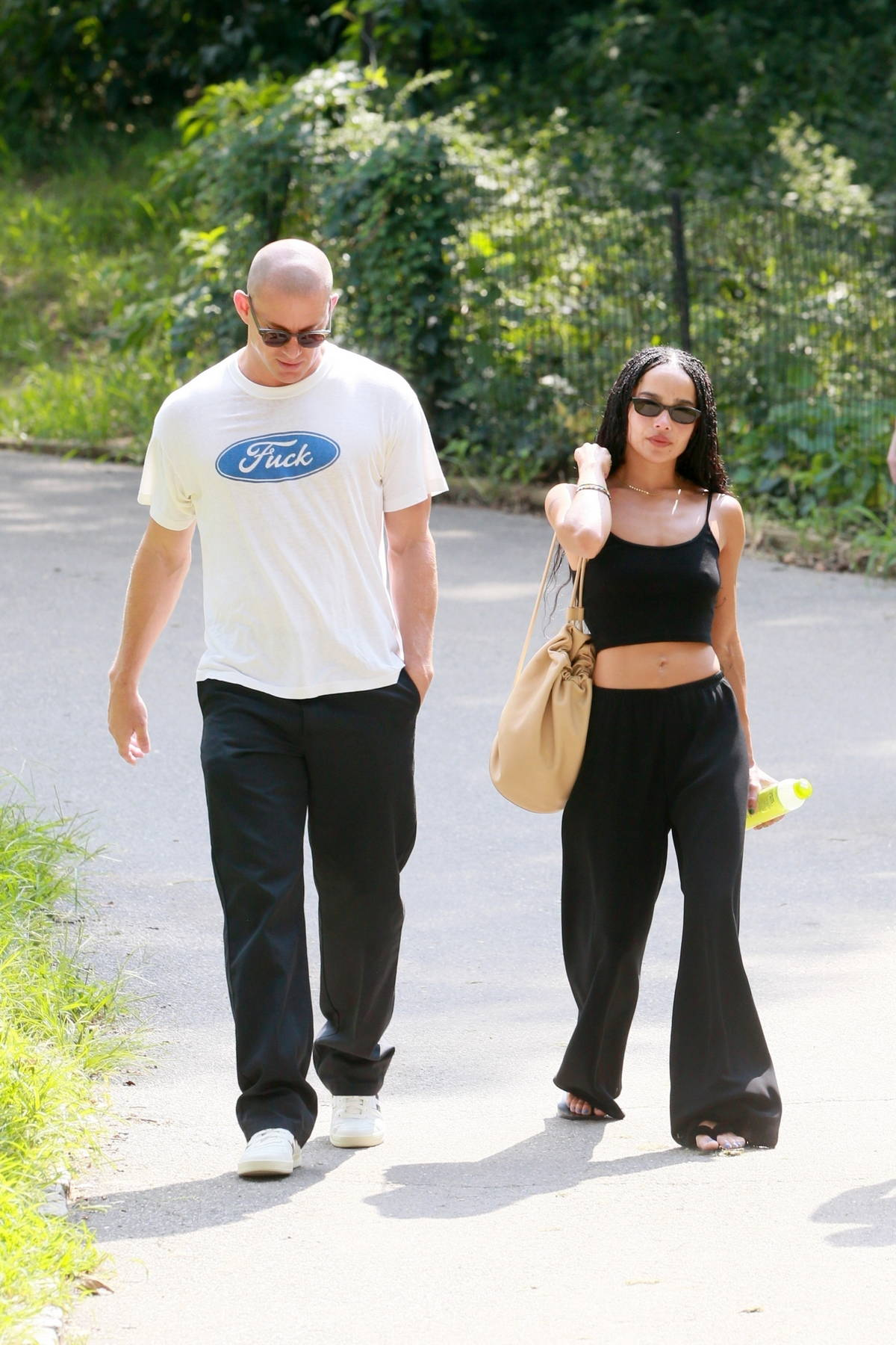 Zoe Kravitz seen taking a stroll with rumored beau Channing Tatum through Central Park in New York City