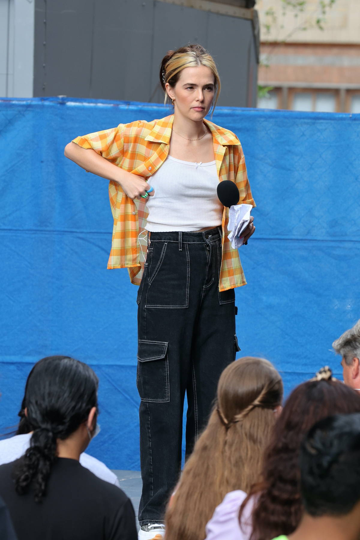 Zoey Deutch spotted on set of 'Not Okay' as she films a Protest scene in New York City