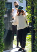 Addison Rae and Maddie Ziegler are seen leaving a Pilates class in West Hollywood, California