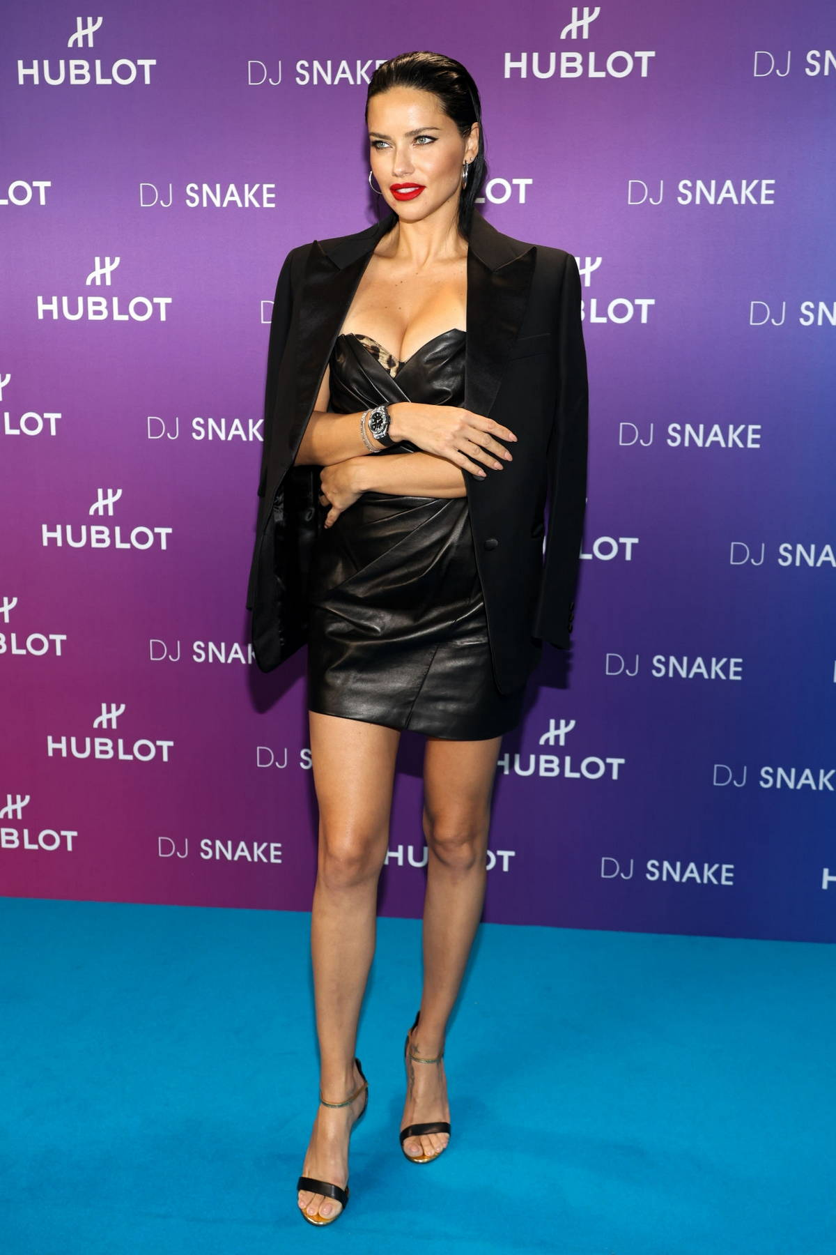 Adriana Lima attends the 'Hublot X DJ Snake' party at AccorHotels Arena in Paris, France