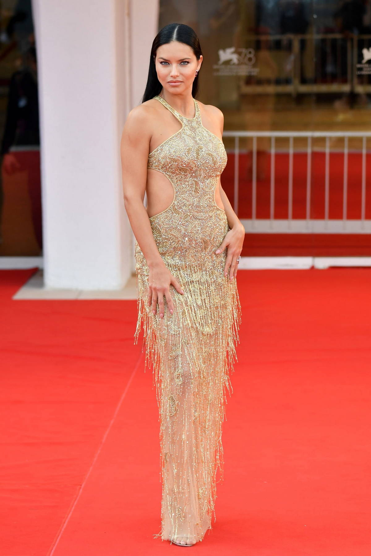 Adriana Lima attends the Premiere of 'Dune' during the 78th Venice International Film Festival in Venice, Italy