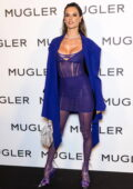 Alessandra Ambrosio attends the Thierry Mugler: Couturissime Exhibition Opening Ceremony during Paris Fashion Week in Paris, France