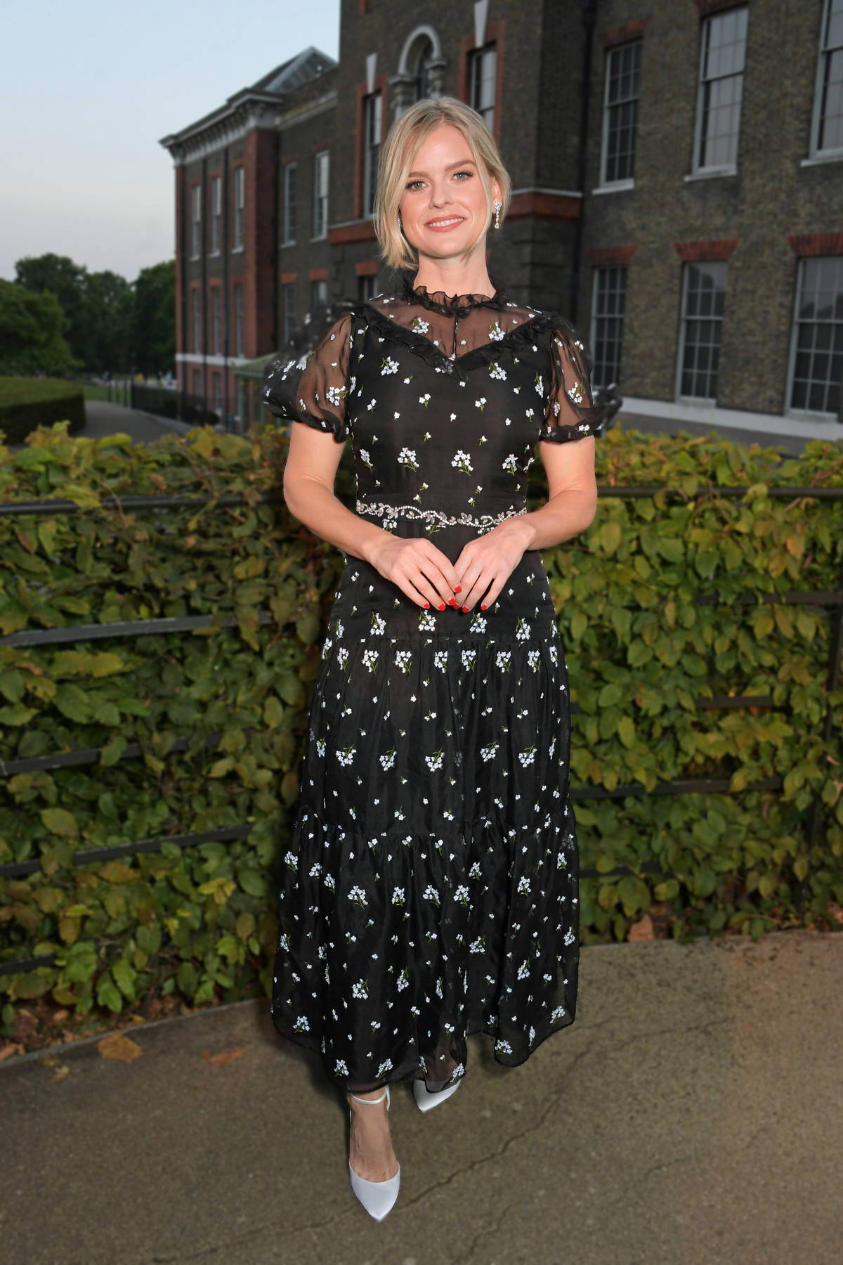Alice Eve attends the ATG Summer Party at Kensington Palace in London, UK