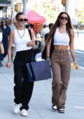 Amelia and Delilah Hamlin look chic as they step out for lunch and some shopping in New York City