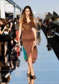 Amelia Hamlin attends the Dundas x Revolve fashion show during New York Fashion Week in New York City