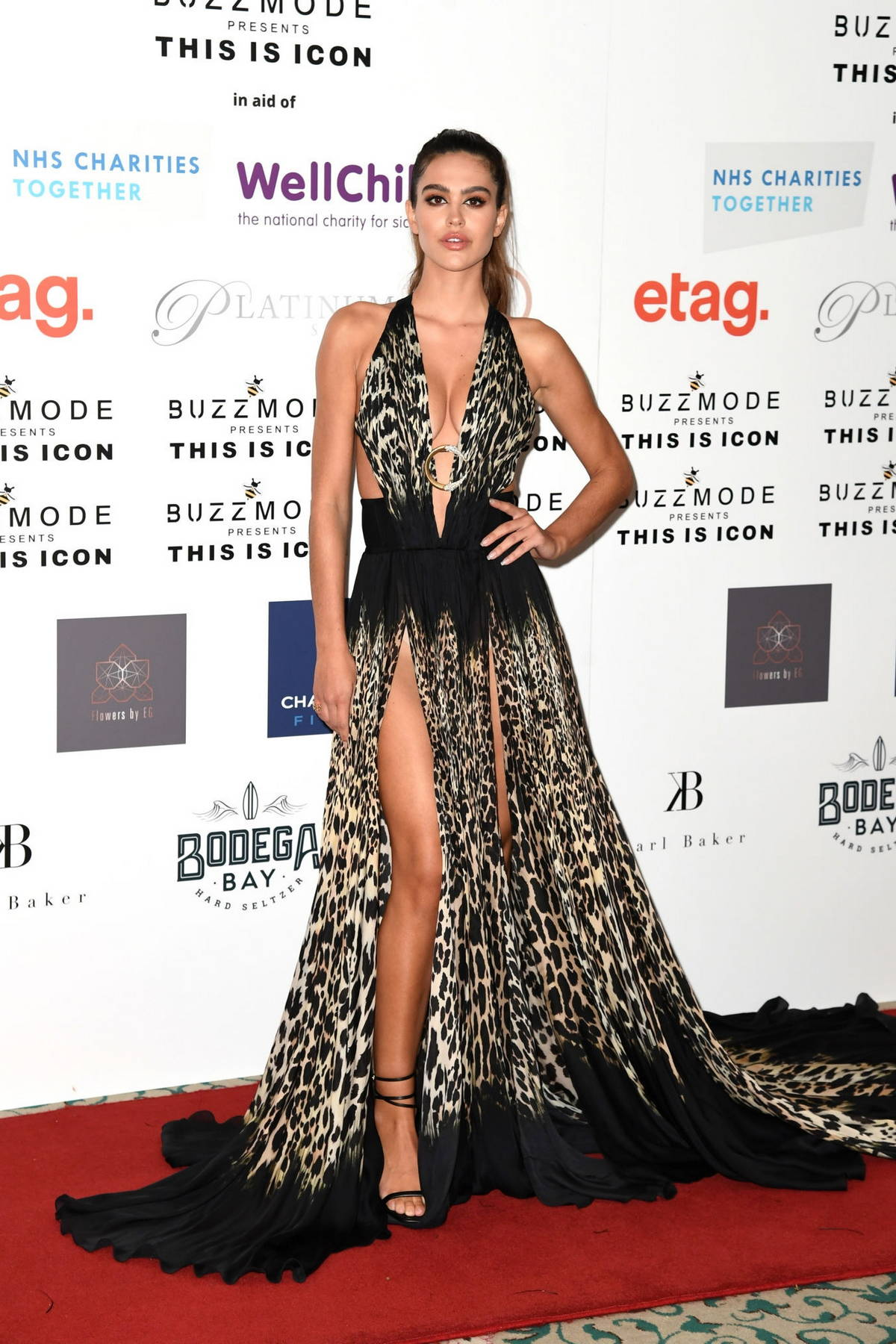 Amelia Hamlin attends The Icon Ball 2021 during London Fashion Week at The Landmark Hotel in London, UK