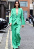 Amelia Hamlin attends the Roland Mouret presentation at the SoHo hotel in London, UK