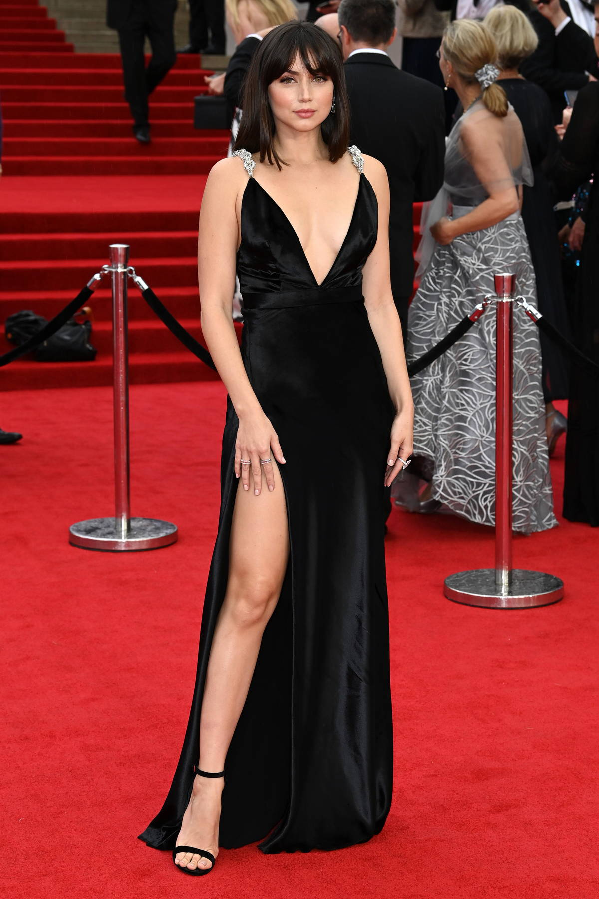 Ana de Armas attends the World Premiere of 'No Time To Die' at the Royal Albert Hall in London, UK