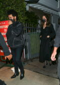 Angelina Jolie and The Weeknd seen leaving together after having dinner at Giorgio Baldi in Santa Monica, California