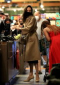 Angelina Jolie goes grocery shopping with her daughter Zahara at Erewhon in West Hollywood, California