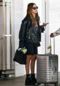 Ashley Benson arrives at Miami Airport ready for take off a day after shooting a project in the city, Miami, Florida