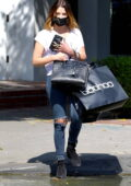 Ashley Benson enjoys some retail therapy at boohoo in Los Angeles