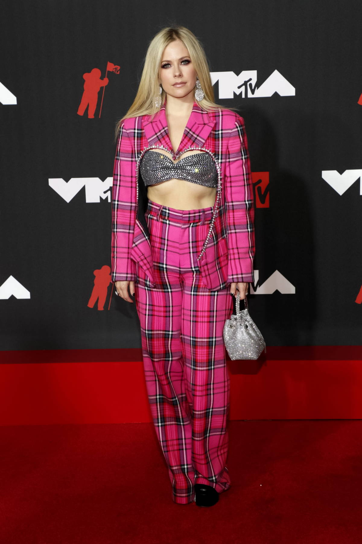 Avril Lavigne attends the 2021 MTV Video Music Awards at Barclays Center in Brooklyn, New York City