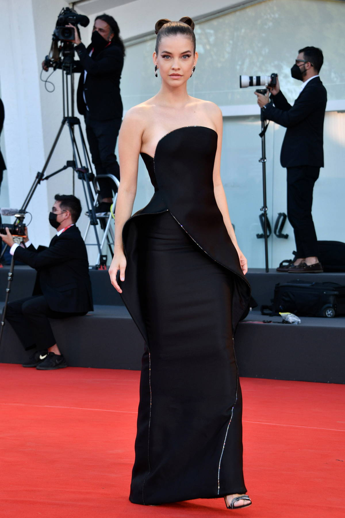 Barbara Palvin attends the Premiere of 'Madres Paralelas' during the 78th Venice International Film Festival in Venice, Italy