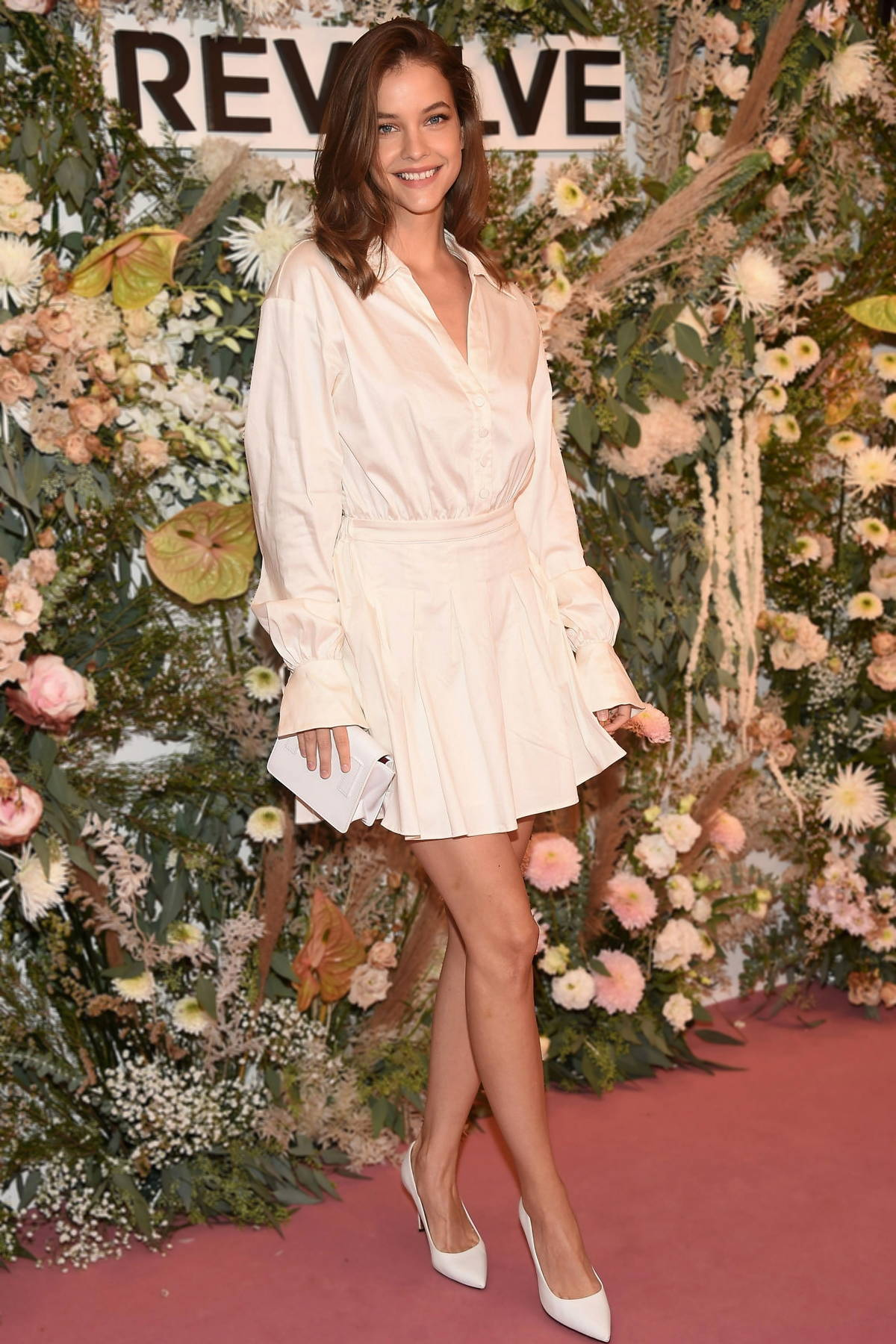 Barbara Palvin attends the Revolve Gallery inaugural event during New York Fashion Week at Hudson Yards in New York City