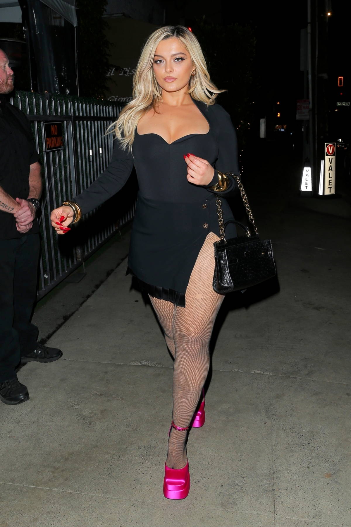 Bebe Rexha puts on a leggy display as she steps out to dinner at Giorgio Baldi in Santa Monica, California