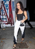 Becky G and boyfriend Sebastian Lletget step out for a dinner date at Craig's in West Hollywood, California