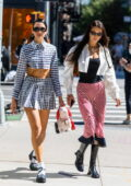 Bella Hadid and Dua Lipa step out together as they head to Gigi Hadid's daughter's birthday in New York City