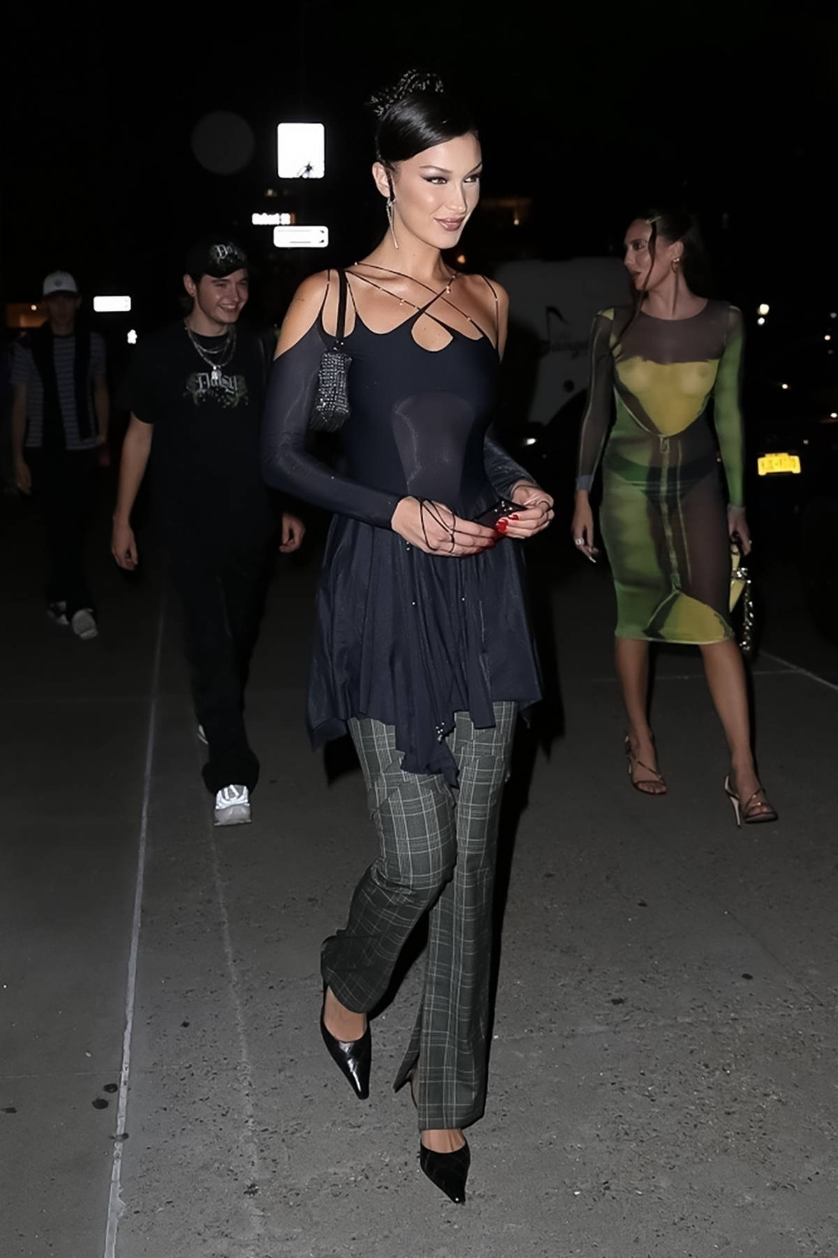 Bella Hadid looks stylish as she heads out for an event during New York Fashion Week at Spring Studios in New York City