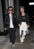 Bella Thorne steps out with her fiancé Benjamin Mascolo for a dinner date at Catch in West Hollywood, California