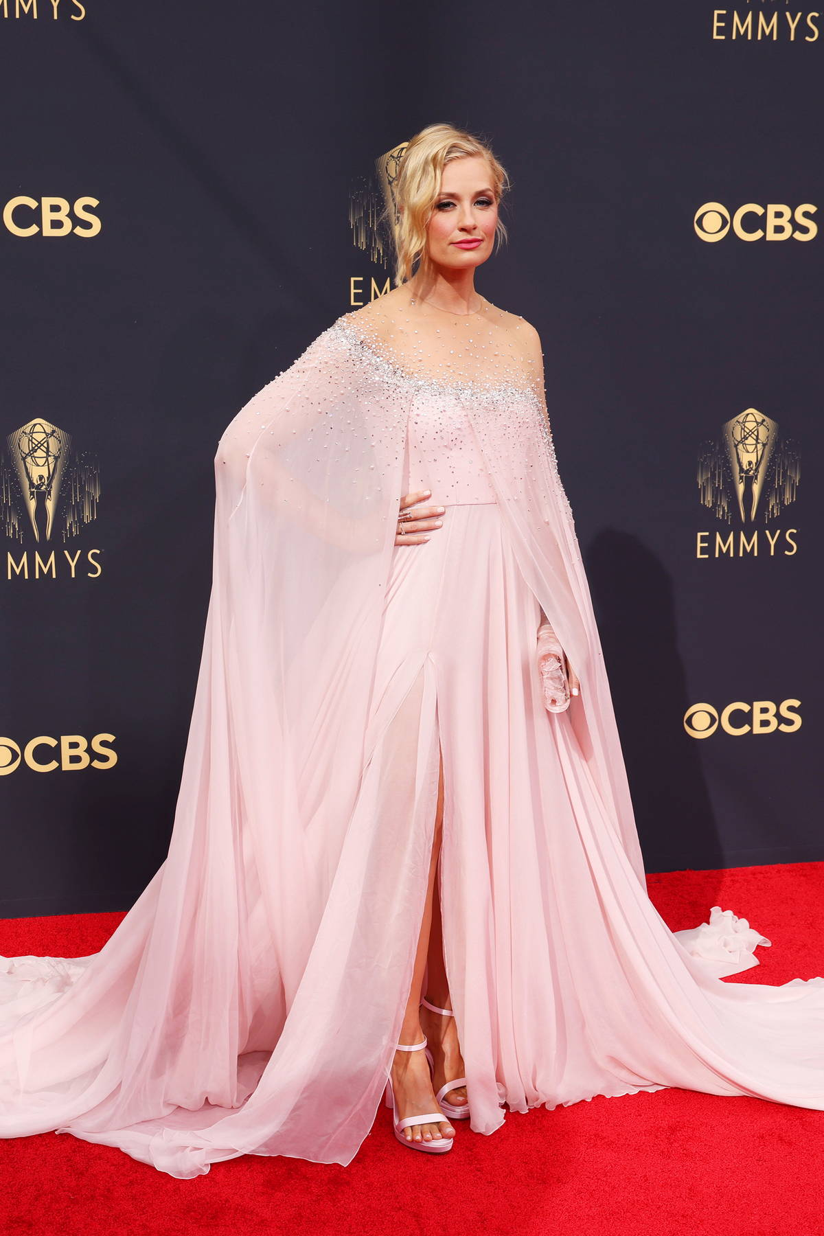 Beth Behrs attends the 73rd Primetime Emmy Awards at L.A. Live in Los Angeles