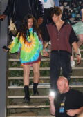 Camila Cabello and Shawn Mendes are seen leaving after performing at the 2021 Global Citizens Live in New York City