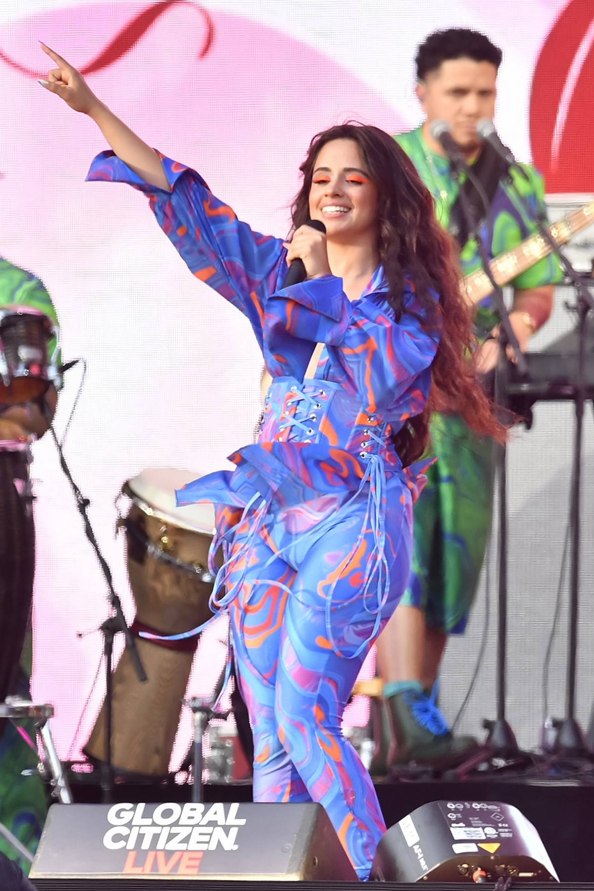 Camila Cabello and Shawn Mendes perform at the 2021 Global Citizen Live Festival at Central Park in New York City
