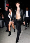 Camila Cabello flaunts her legs as she and Shawn Mendes head to a Met Gala after-party in New York City