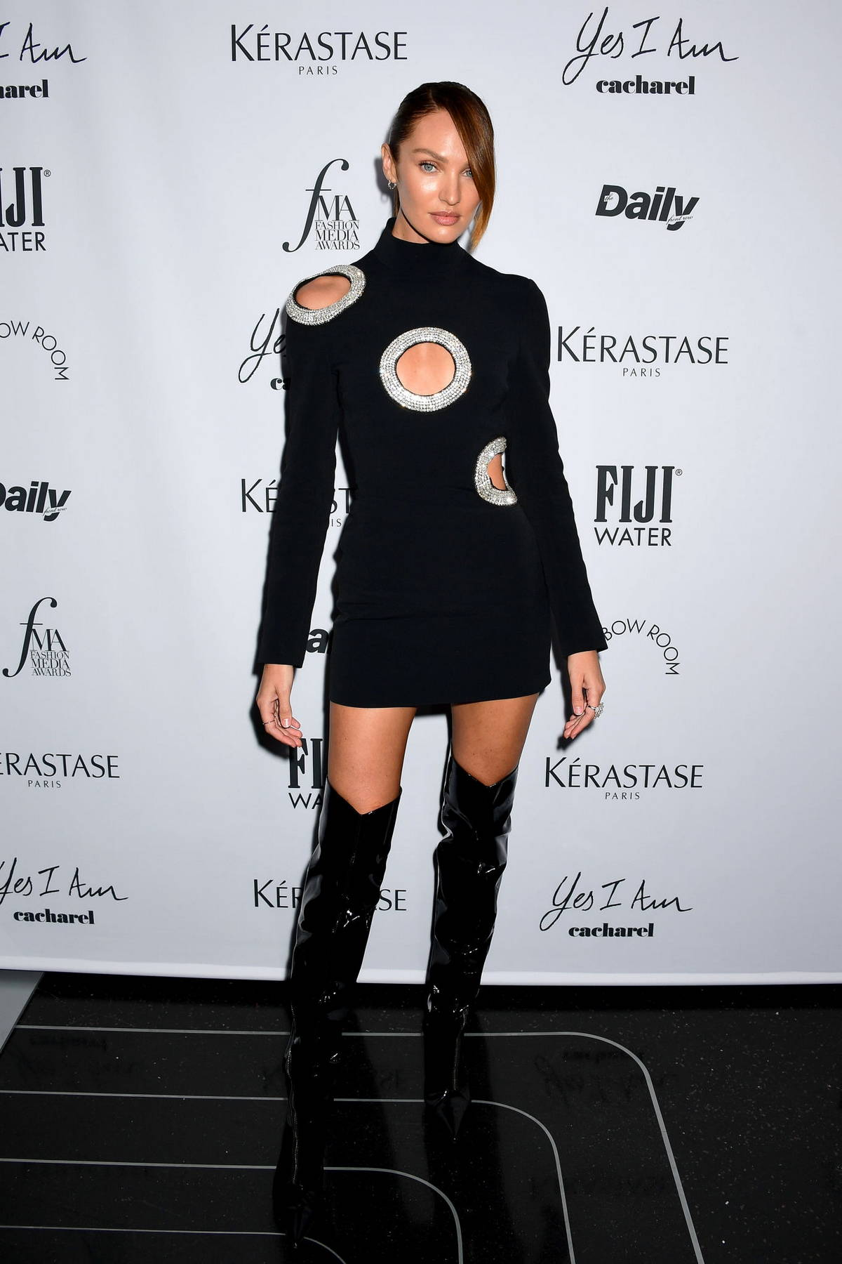 Candice Swanepoel attends the 2021 Daily Front Row Fashion Media Awards in New York City
