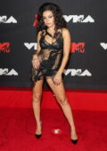 Charli XCX attends the 2021 MTV Video Music Awards at Barclays Center in Brooklyn, New York City